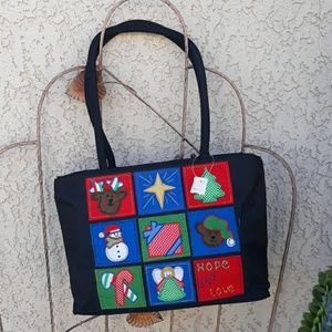 🌲holiday zippered tote